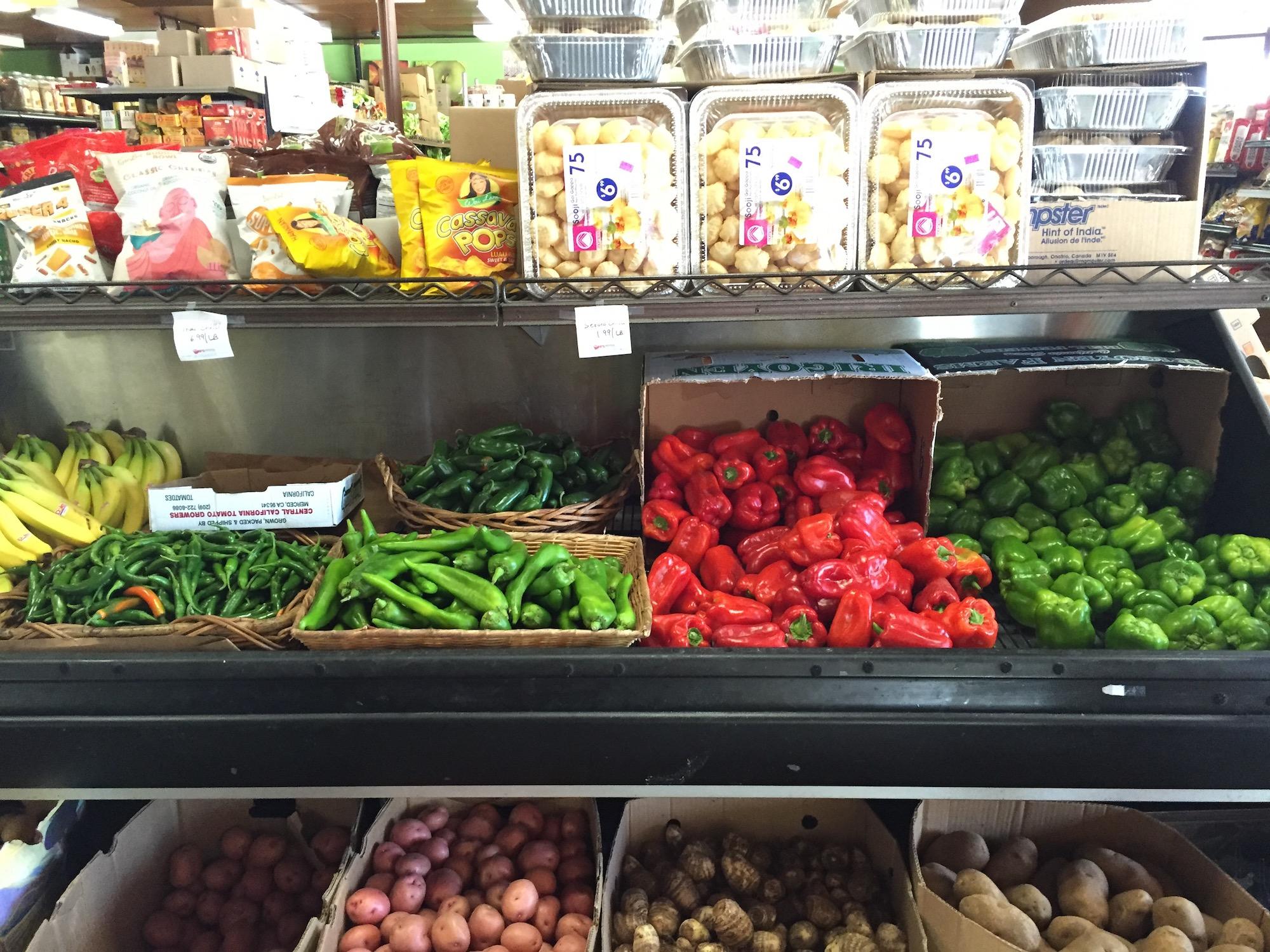 Fresh Produce at Samosa House West