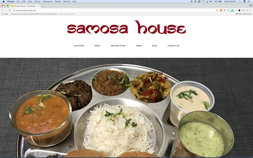 New Look SamosaHouse.com